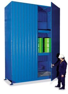 200335 Stellingcontainer V. Gevaarlijke Stoffen,  max. 30x200l vat