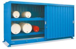 200396 Stellingcontainer V. Gevaarlijke Stoffen,  max. 16x200l vat