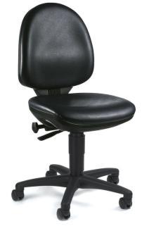 105208 Werkplaatsstoel,  zitting kunstleer zwart