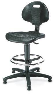 105215 Werkplaatsstoel,  standaardzitting zwart