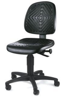 105207 Werkplaatsstoel,  standaardzitting zwart