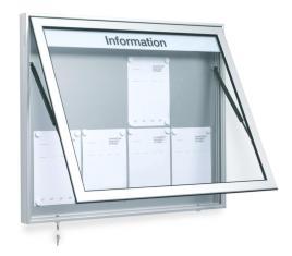 310449 vitrine,  v. 27x DIN A4