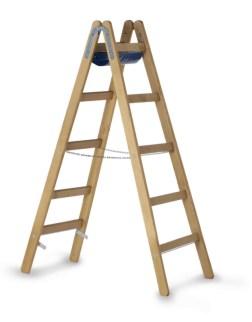 203627 Staande Ladder Met Sporten,  beide zijden