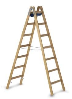 203629 Staande Ladder Met Sporten,  beide zijden