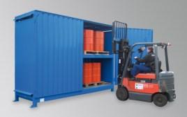 200354 Stellingcontainer V. Gevaarlijke Stoffen,  max. 24x200l vat