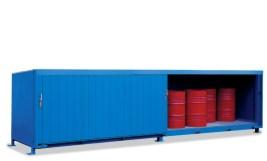 200340 Stellingcontainer V. Gevaarlijke Stoffen,  max. 20x200l vat