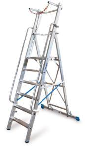 139754 Verrijdbare Treden-Platformladder,  eenzijdig