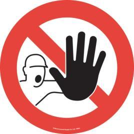 143178 Vloersticker,  stop met hand
