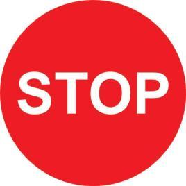 143167 Vloersticker,  stop