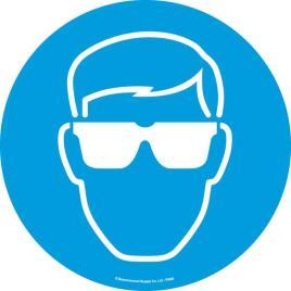 143171 Vloersticker,  oogbescherming dragen
