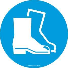 143173 Vloersticker,  voetbescherming dragen