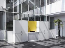 148192 opzetkast,  v. kantoorkast met openslaande deuren