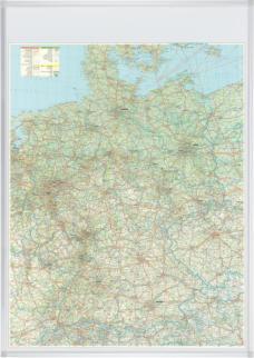 521859 Wegenkaart Duitsland,  HxB 1380x980mm