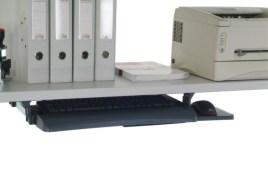 520926 Toetsenbord- En Muisplank,  HxBxD 110x600x420mm