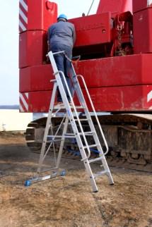 139761 Verrijdbare Treden-Platformladder,  eenzijdig