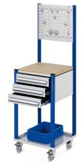 143249 Verrijdbare Montagetafel,  HxBxD 1730x500x500mm
