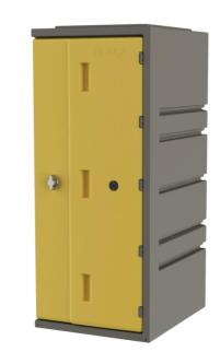 213821 Kunststof Locker,  HxBxD 910x385x470mm