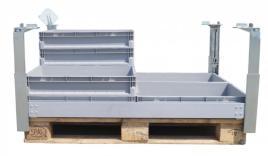 219638 Pallet-Stapelframe,  staal/aluminium
