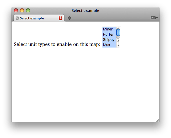 HTML/Elements/select - W3C Wiki