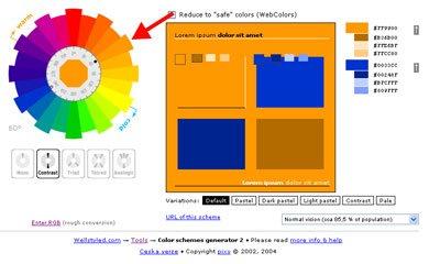 Skema warna komplementer online