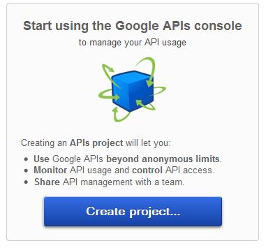Create Project Google API Console