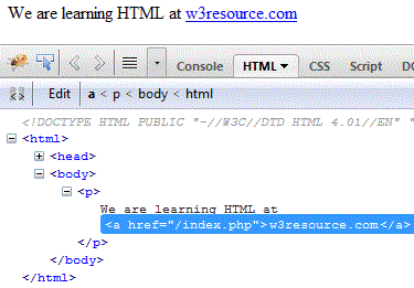HTML a tag and element - HTML tutorials - w3resource