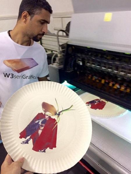 Impressão UV em material flexível
