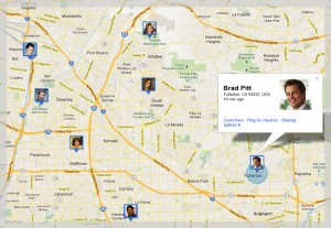 Google Latitude Friends Map