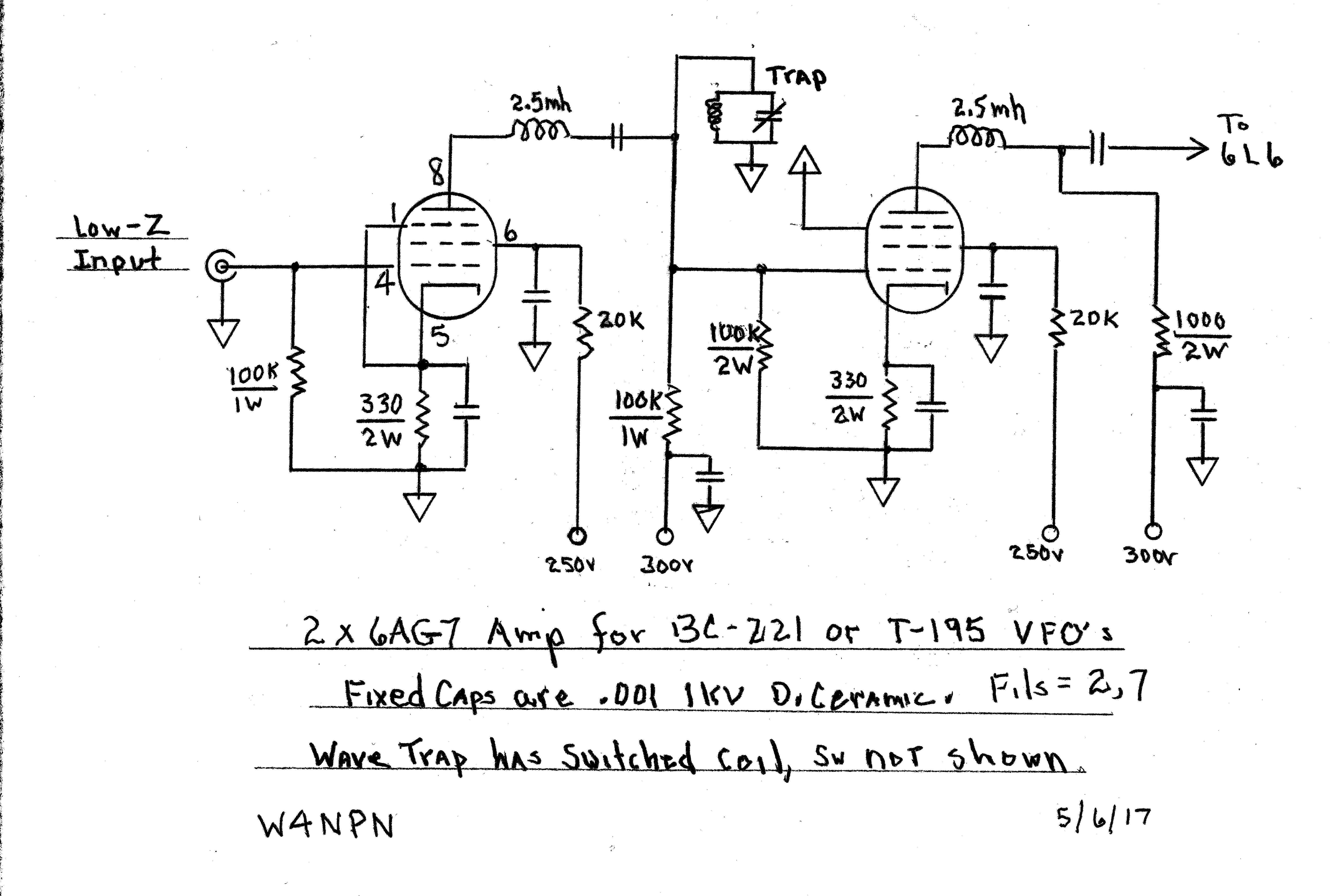 The Bc 221 6ag7 6ag7 6l6 Project W4npn S Ham Radio