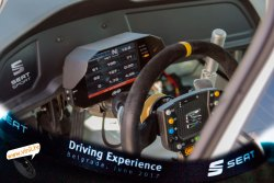 seat driving experience seat leon cup racer bolid inside