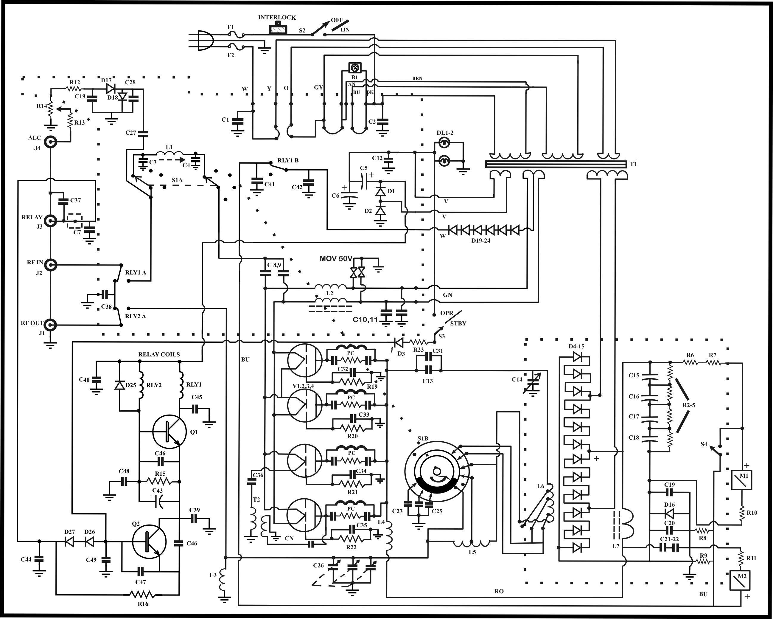yaesu g 1000dxc circuit diagram