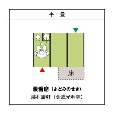 平三畳 澱看席(よどみのせき) 藤村庸軒(金戒光明寺)