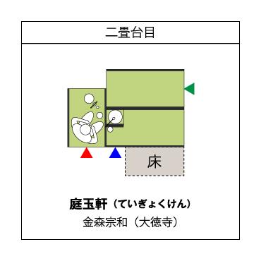 二畳台目 庭玉軒(ていぎょくけん) 金森宗和(大徳寺)