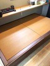 小上がりスペースに畳を配置