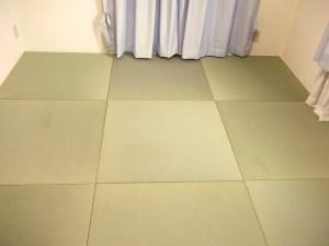 オリジナルサイズの置き畳で本格的な琉球畳風の和室をDIY_大阪狭山市のお客様事例