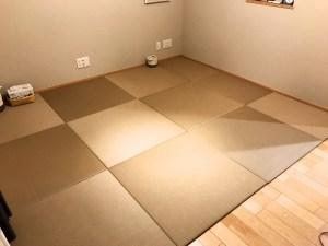 東京都 西東京市にて畳の製作事例 セキスイ美草 目積 モカベージュ 830mm×540mm×15mm 3枚