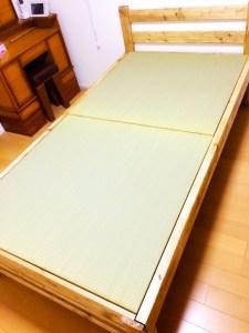 「自作のベッドフレーム」にサイズピッタリの畳をオーダー【DIYで作る畳ベッド】
