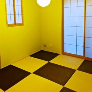 2色の畳表「ラテブラウン☓アイボリー」コントラストがいい和風インテリア