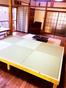 琉球畳を敷いた素敵な小上りを作ったお客様【DIY】