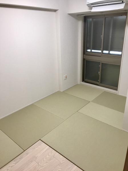 幾何学的な畳の敷き方