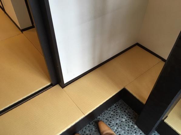 京町家の宿の畳を新調