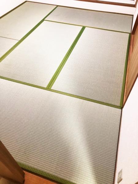 畳を6枚敷いた部屋
