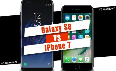 Test : comparatif entre l'iPhone 7 et le Samsung Galaxy S8