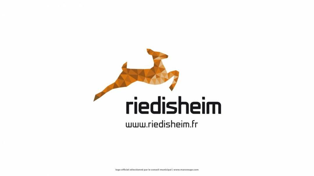 Le logo de Riedisheim vu par l'agence Mars Rouge de Julien Di Giusto.