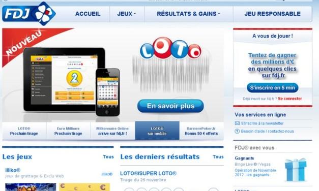 Française des Jeux : résultats des jeux de tirage