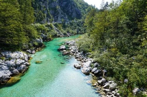 soca rivier Slovenië kobarid