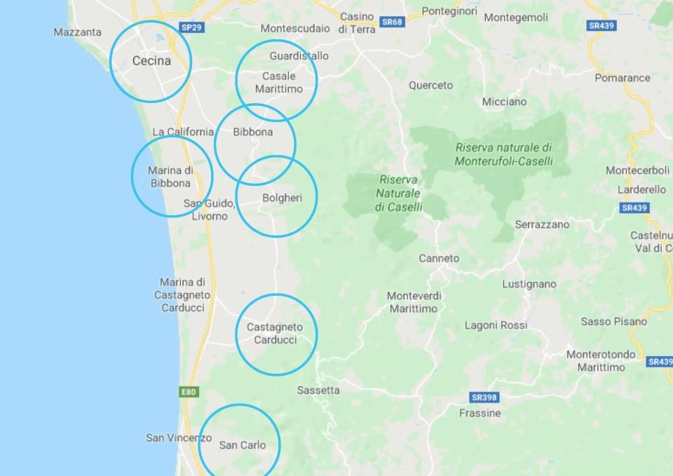 wijnroute Italie toscane