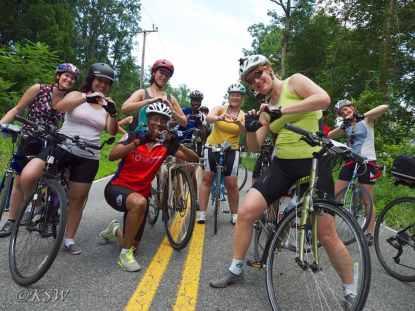 Women & Bicycles sharing the bike love