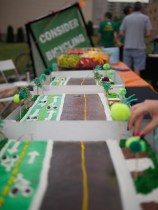 The 1st St cycle track in cake form.