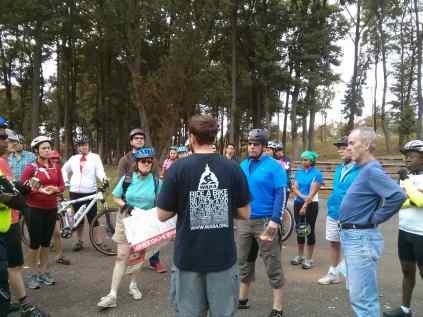 Greg talking rehabilitation of the Oxon Run Trail
